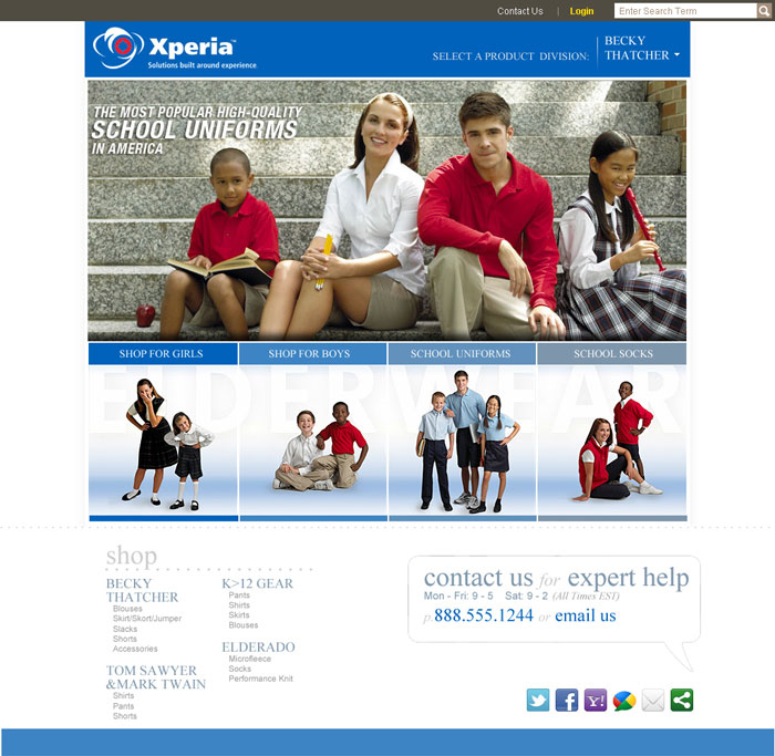 Example of XPeria Customer's on-line catalog