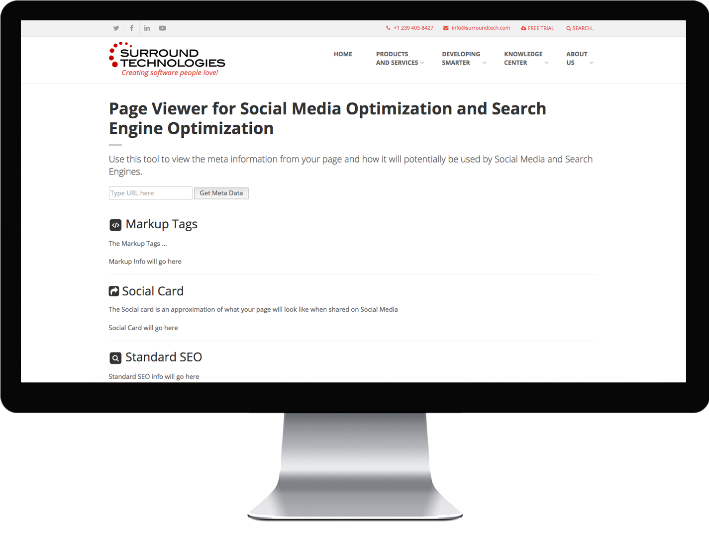 Search and Social Media Tag Validation Tool